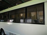 マイクロバス 三菱ローザへのフィルム施工