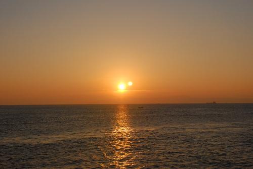 島原半島から見た朝日