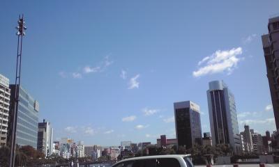 福岡 天神の青空