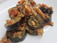 ピリッと辛い(๑╹ڡ╹๑)トマトの麻婆茄子