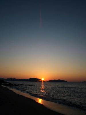 昨日の志賀島からの夕陽