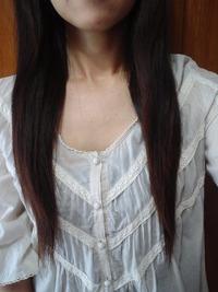 髪を切った~