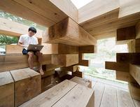 熊本県球泉洞にある休暇村の次世代木造バンガローモクバン