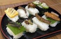 食の原点?昆虫料理界についに昆虫寿司登場!!!