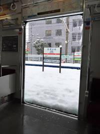 車窓から雪