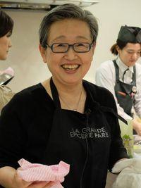 山際千津江先生の料理教室へ。