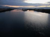 筑後川の夜明け。