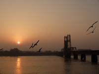昇開橋の夜明け。