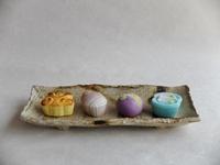 菓子処きくやの上生菓子。