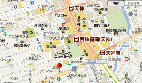 イルドクルール福岡天神map2017