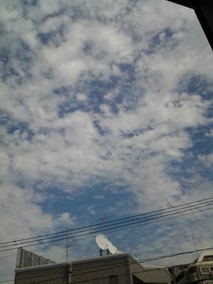 雲多いけどイイ感じの空