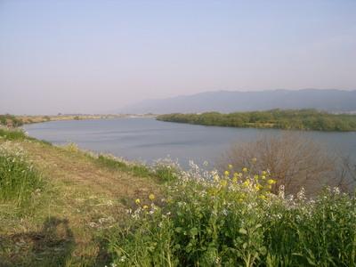 筑後川と耳納連山
