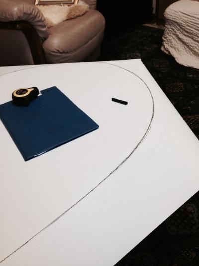 テーブルマット型紙