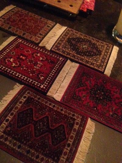 ペルシャ絨毯コースター