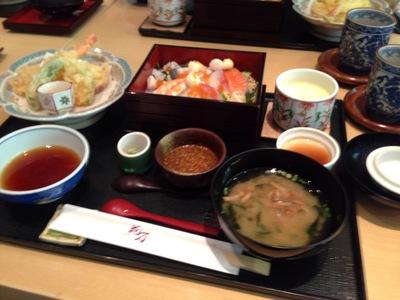 海鮮山菜 ちらし寿司と天ぷら御膳