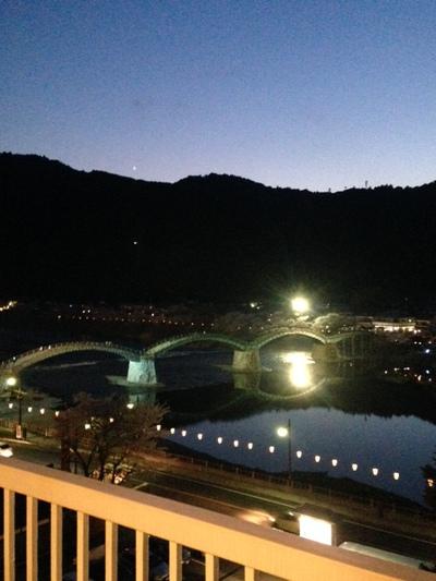 錦帯橋 ライトアップ