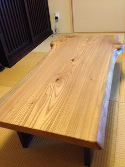 ニレ 一枚板 テーブル