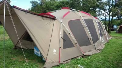 テント設営