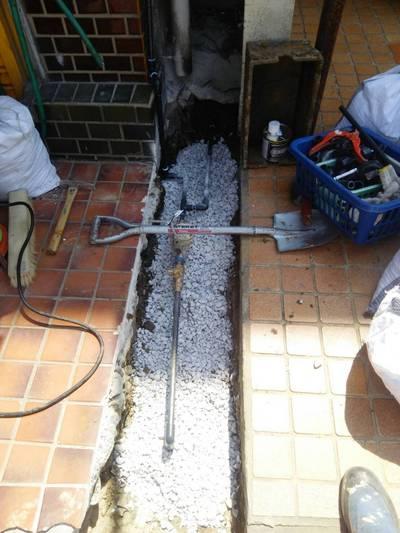 水道管埋設工事