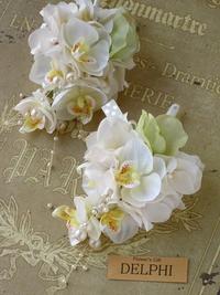 ミニ胡蝶蘭のコサージュ