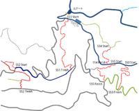長崎エンデューロ コース予定図