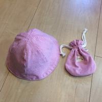 帽子と巾着袋をつくりました。