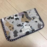 鼻ぺチャ布で通帳ケースを作りました。