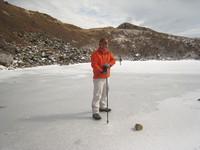 氷結御池を歩く