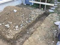 ガーデンルームの下地を作ります。
