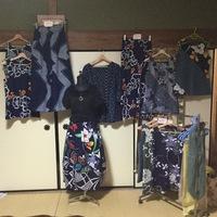 浴衣リメイク色々生地のバルーンスカート 2017/06/06 16:35:41