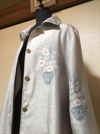 2017人気の今すぐ着たい!着物リメイク紬の春コート 2017/04/04 14:43:53
