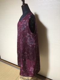 春らしくお洒落に演出する正絹ノースリーブ着物リメイク 2017/04/15 17:42:55