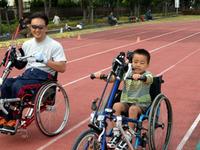 走り方教室 ハンドサイクル体験