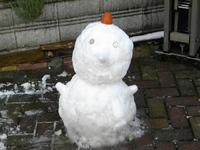 雪ダルマ 大雪