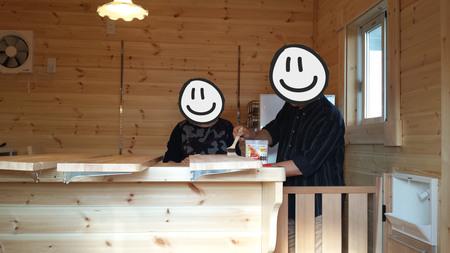 鹿児島県にミニログハウスが完成しました!