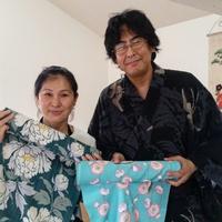 バンコク在住の画家 阿部恭子先生とふくひろ浴衣遊び in 福岡