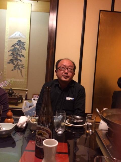 未来鍋を囲んで山田社長へ質問攻めの原さん!