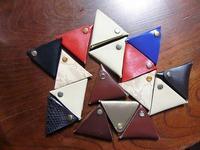 三角コインケース 量産!