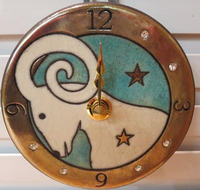 牡羊座置き掛時計