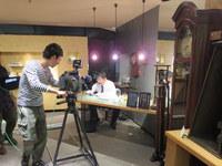 NHKさんの取材は「レール」と「虫の目レンズ」
