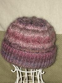 手編みの帽子❣️(o'ー'o)ノ