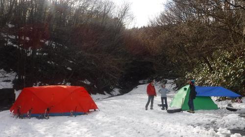 鯛の巣山(1026m、県連冬山交流)