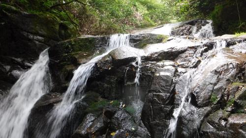 天然クーラーとシャワーの小爪谷遡行