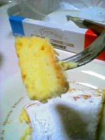 チーズケーキ切った