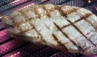 沖縄希アグー黒豚の炙りステーキ!