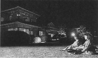 伊藤伝右衛門邸ライトアップ