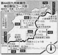 九州実業団駅伝コース図