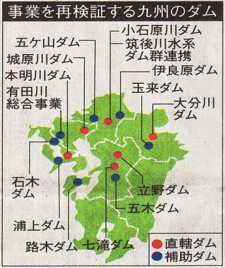 事業が再検証される九州のダム
