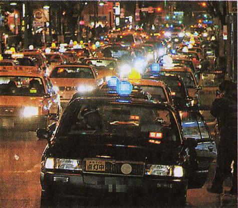 中洲のタクシー渋滞