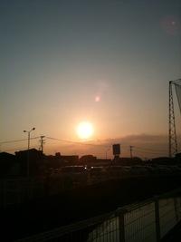大川で見た夕日